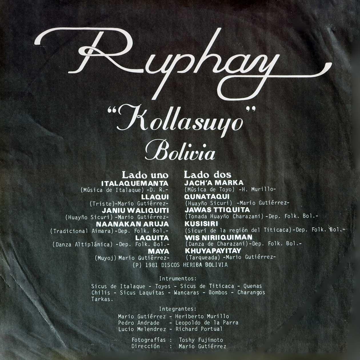 Ruphay - Kollasuyo - Bolivia
