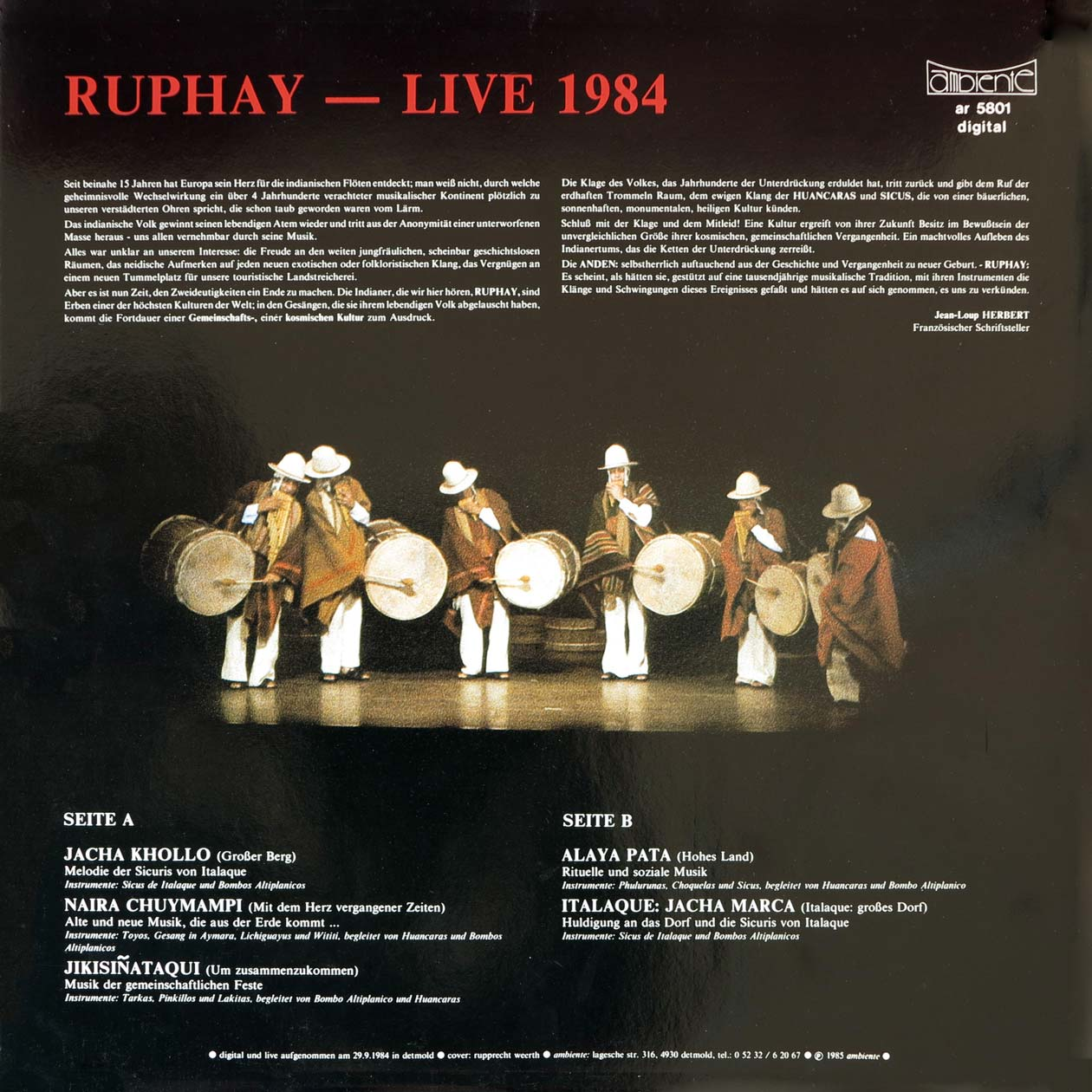 Ruphay - Live 1984